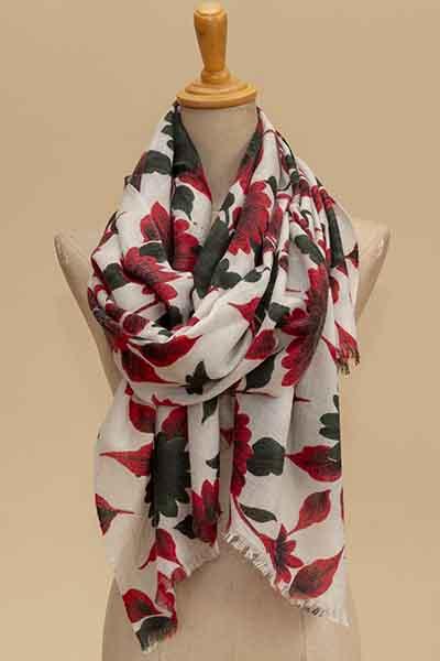 herringbone floral print