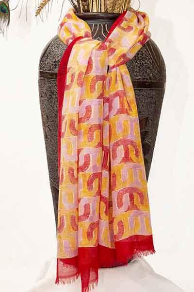 crown design pashmina stole