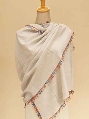 basket multi color fringe stole