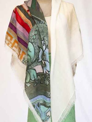 baby diamond digital print scarf