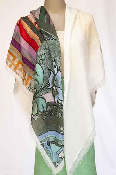 baby diamond digital print scarf